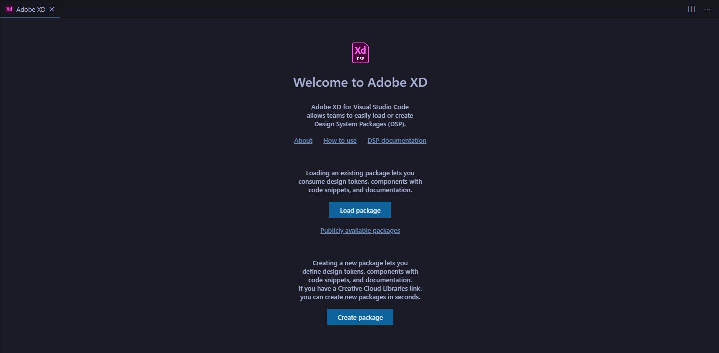 Adobe XD - VS Code Eklentisi