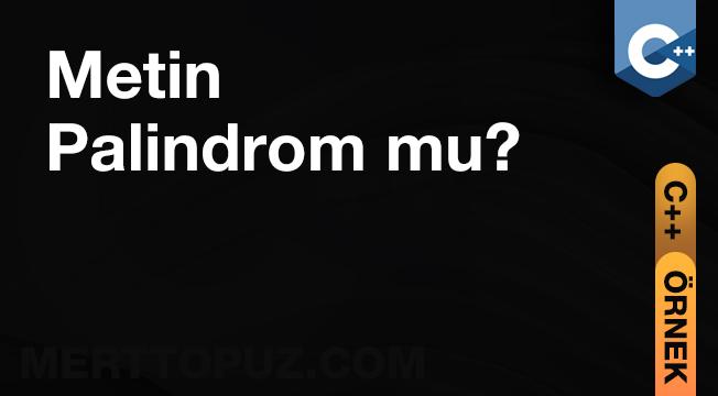 C++ Metin Palindrom mu?