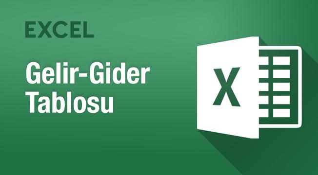 Excel ile Gelir-Gider Tablosu