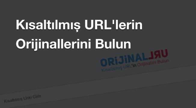 Kısaltılmış URL'lerin Orijinallerini Bulun