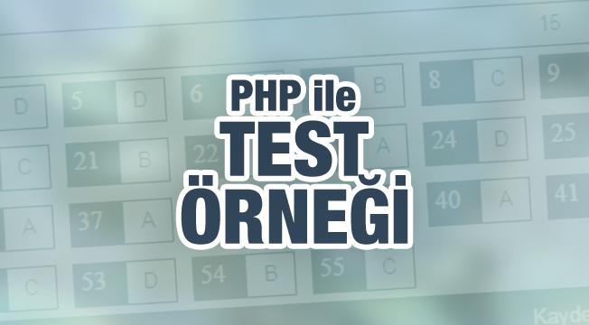 PHP ile Test Örneği